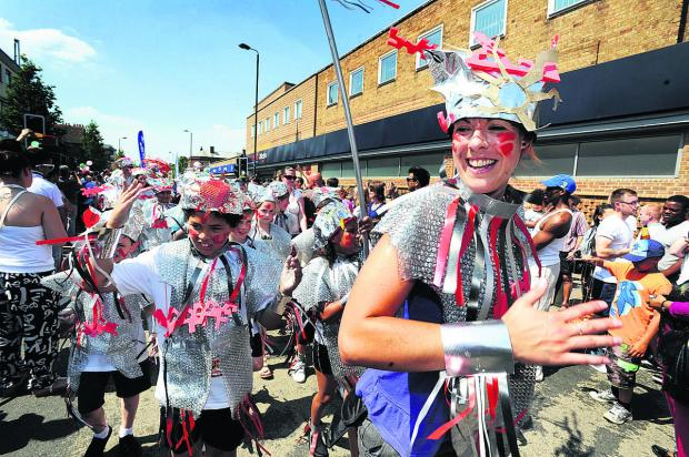 Herald Series: St Francis School's robots in last year's Cowley Road Carnival procession