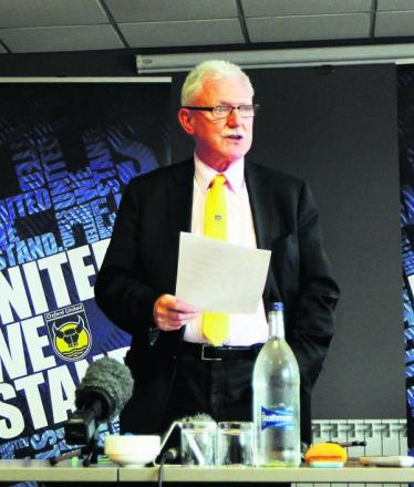 Ian Lenagan at yesterday's press conference