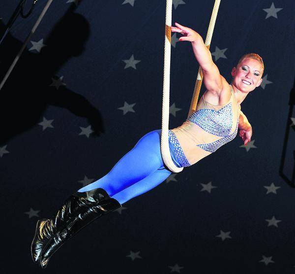 Herald Series: Trapeze artist Zsufia Jakab on the aerial cloud swing