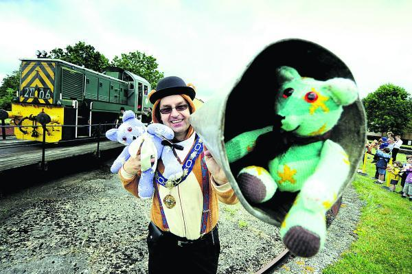 Mayor of Didcot Scott Wilgrove gets into the spirit of the teddy bears picnic