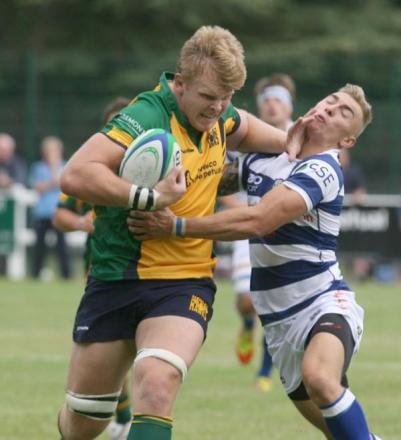 Josh McNally, seen here in action for Henley Hawks last season, will come up against his former side tomorrow when London Welsh come to Dry Leas