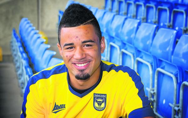 Alex Jakubiak at the Kassam Stadium yesterday Picture: Damian Halliwell Order no: OX69285