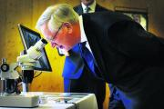 The Duke of Gloucester gets a close-up look at Japanese knotweed