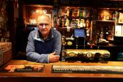 CLOSING: Far From The Madding Crowd landlord Charles Eld behind the bar of the pub, which is shutting its doors on Saturday