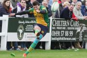 Fly half James Comben scored Henley's opening try and was successful with two conversions and a penalty in their 32-27 win at Cambridge in National 2 South
