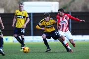 Josh Ashby in action against Exeter City