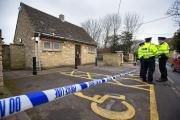 Police at the Southampton Road public toilets in Faringdon, where a man died from burns
