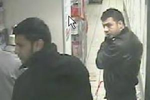 CCTV pictures of men police want to quiz over stolen alcohol in Abingdon