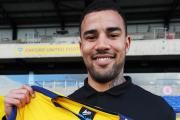 Striker Kyle Vassell after completing his loan move to Oxford United yesterday from Peterborough      Picture: Jon Lewis