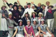Jolly crew . . . The cast of Anything Goes