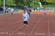 Ryan Craze won the under 17 100m and 200m for Team Oxfordshire