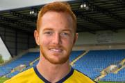 Ryan Taylor at the Kassam Stadium this afternoon