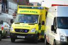 Two injured as car and lorries collide