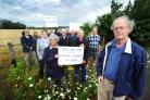 Not here: Campaigners protesting against plans for a Park and Ride at Lodge Hill