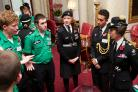 Young cadet meets HRH The Princess Royal at Buckingham Palace event