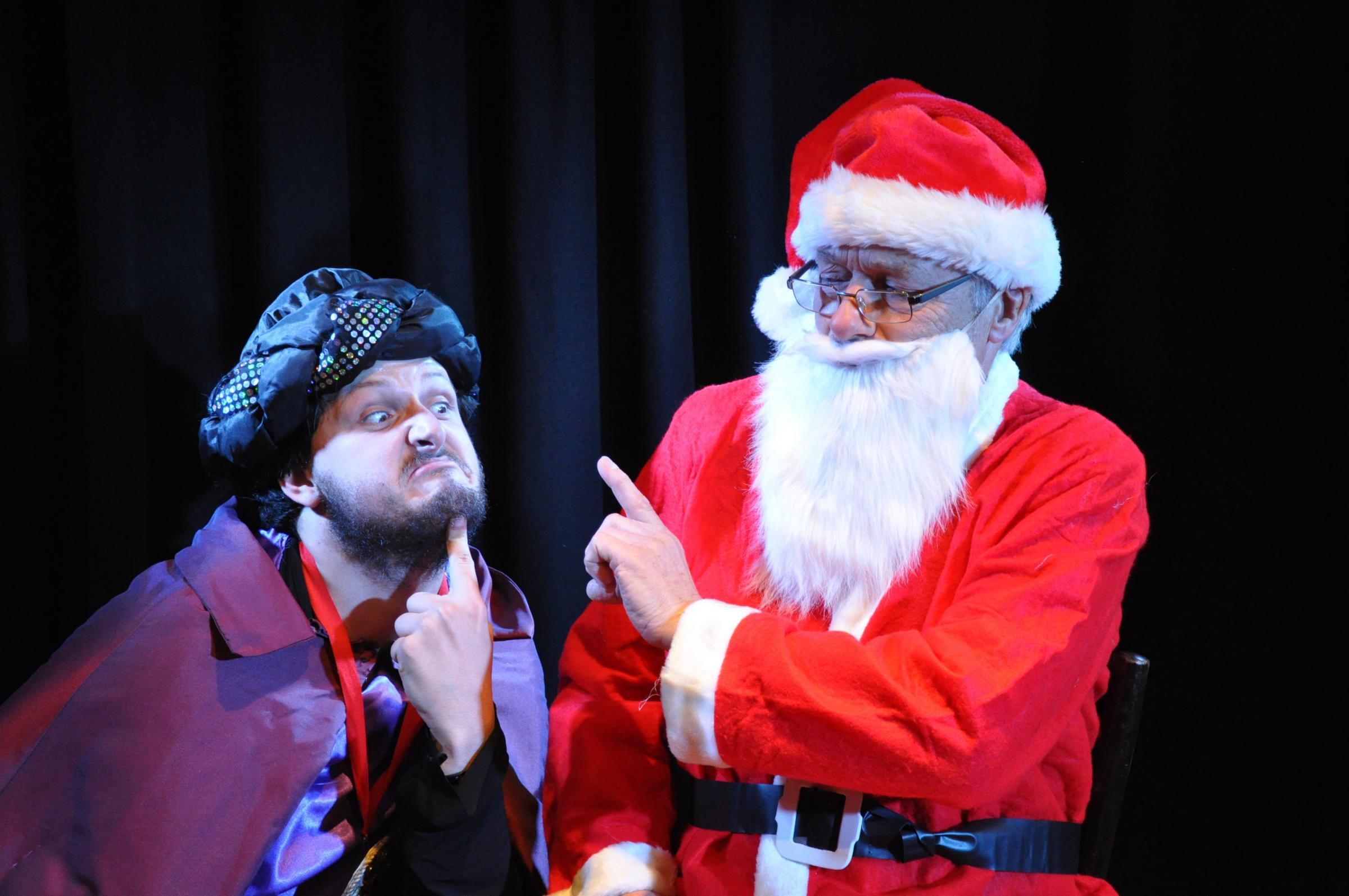 Monty Kimball-Evans plays Vileun the Vile and Jon Crowley is Santa in Abingdon Drama Club's forthcoming pantomime Santa in Space