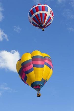 Herald Series: PICTURES: Sky's the limit; stunning views in Cholsey for the hot air balloon festival.