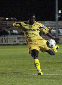 Yemi Odubade shoots wide against Histon