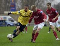 Joel Ledgister on the attack
