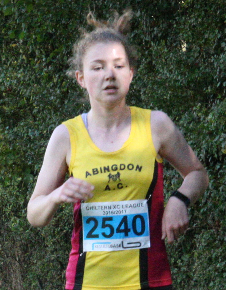 EFFORT: Abingdon's Katharine Harris at Shotover                     Picture: Barry Cornelius