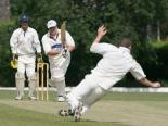 Dave Pearce gets his straight drive away during his side's unlikely defeat by Horspath