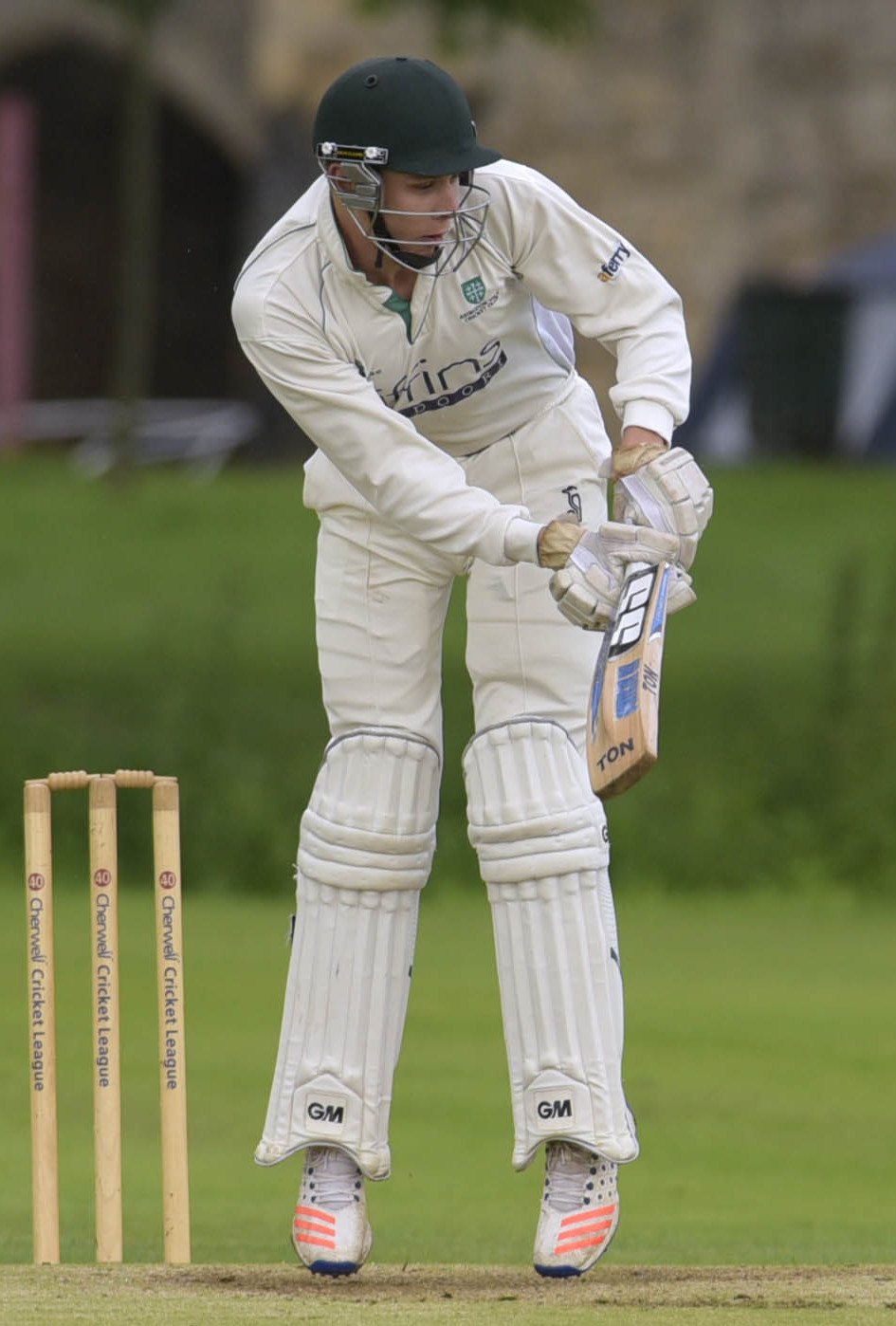 TON-UP: Joe Butcher scored a match-winning century for Abingdon Vale 2nd                       Picture: David Fleming