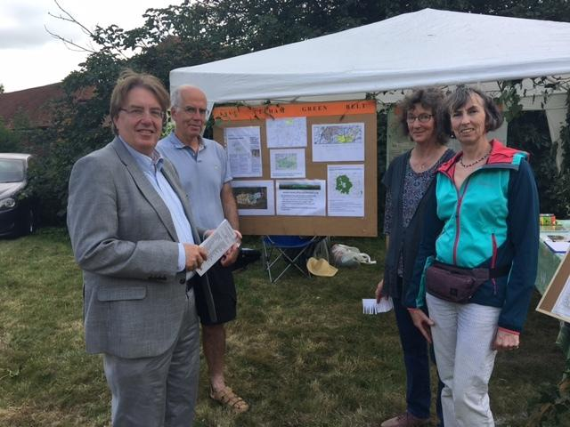 L-R John Howell MP, with Andrew Rushton, Kathy Rushton and Caroline Baird of Save Culham Green Belt