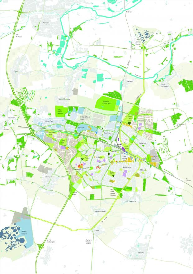 Herald Series: The map of Didcot Garden Town masterplan.