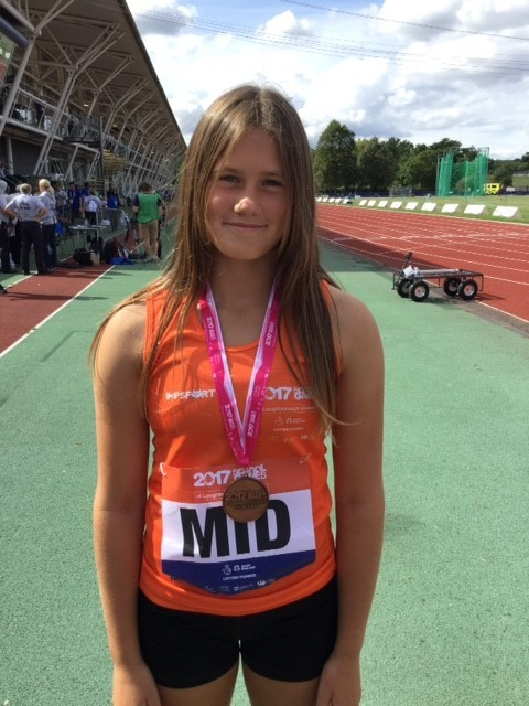 Ella Lovibond with her bronze medal at the School Games National Finals