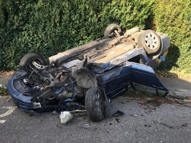 Herald Series: Crash on A420, near Buckland. Pic: Oxfordshire Fire and Rescue Service