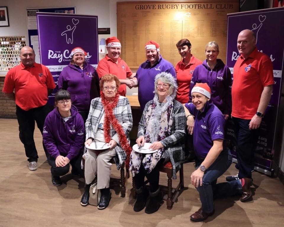 ray christmas dinner saved by grove rugby club