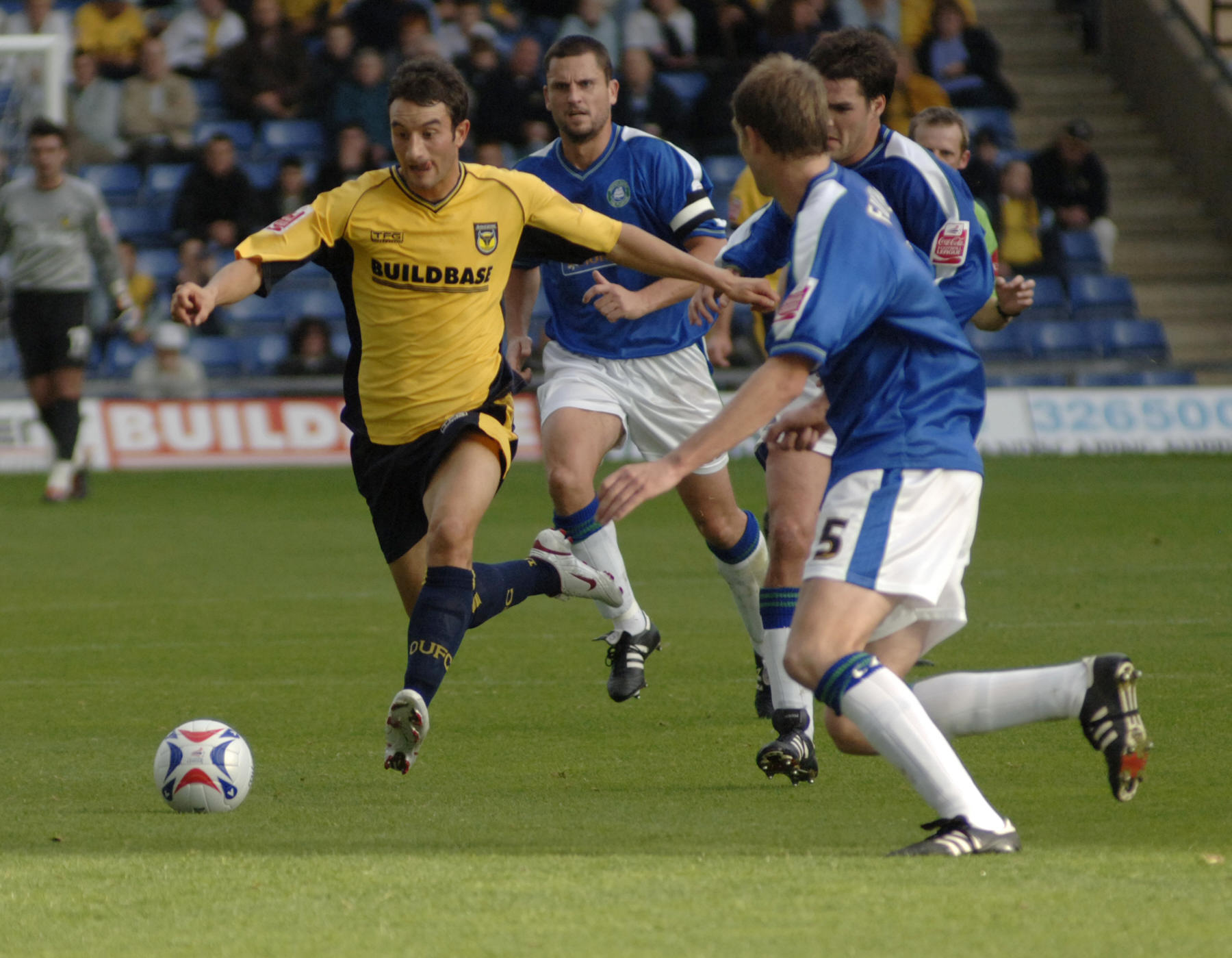 ON THE RUN: Chris Hackett in action as a player for Oxford United in 2005 	 Picture: George Reszeter