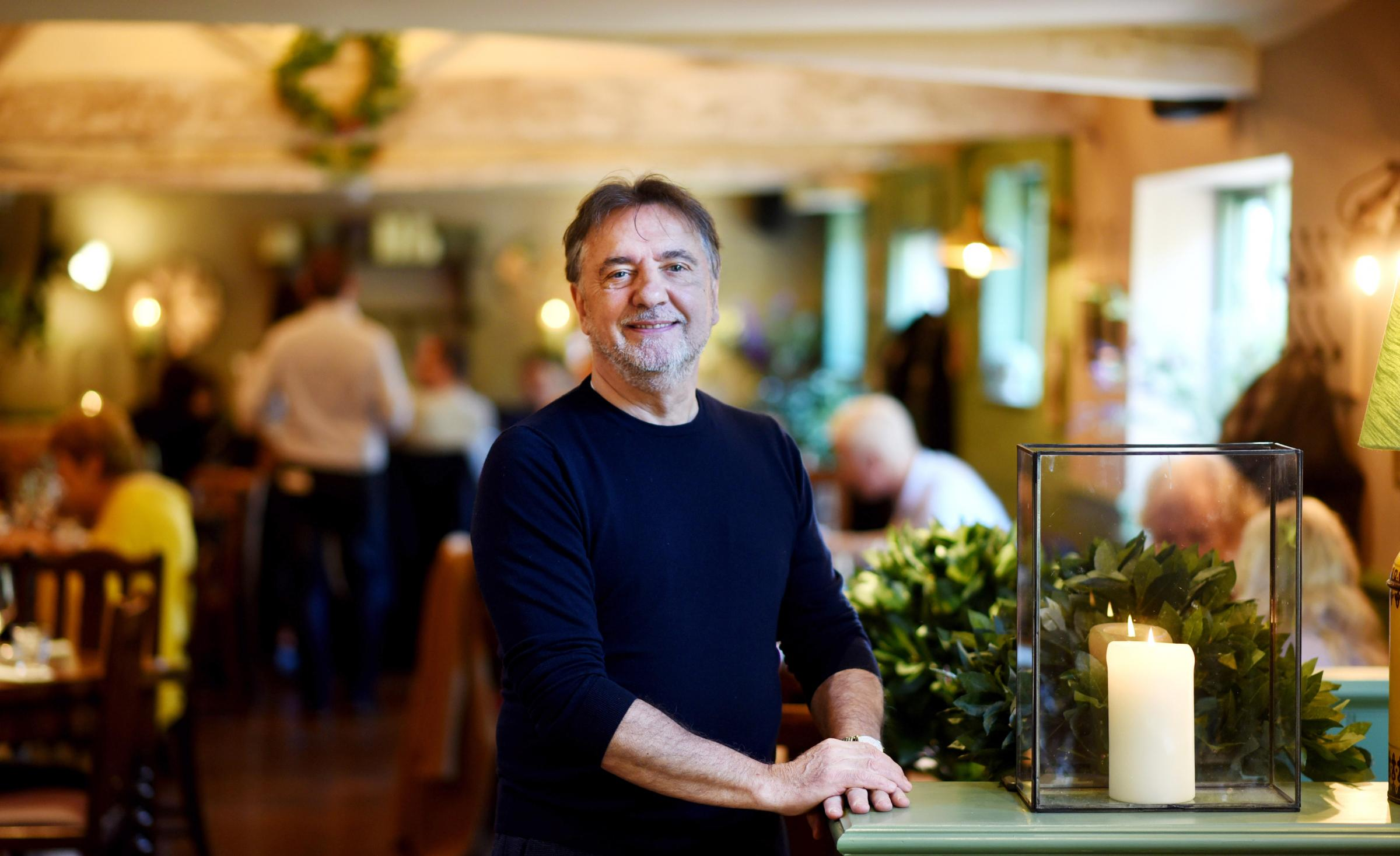 Raymond Blanc at his new pub The Black Horse in Thame, the first White Brasserie Company venture in Oxfordshire     Picture by Richard Cave