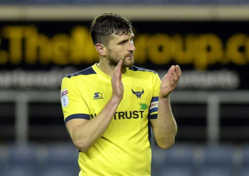 Oxford United skipper John Mousinho after the final whistle against Wigan Athletic  Picture: David Fleming