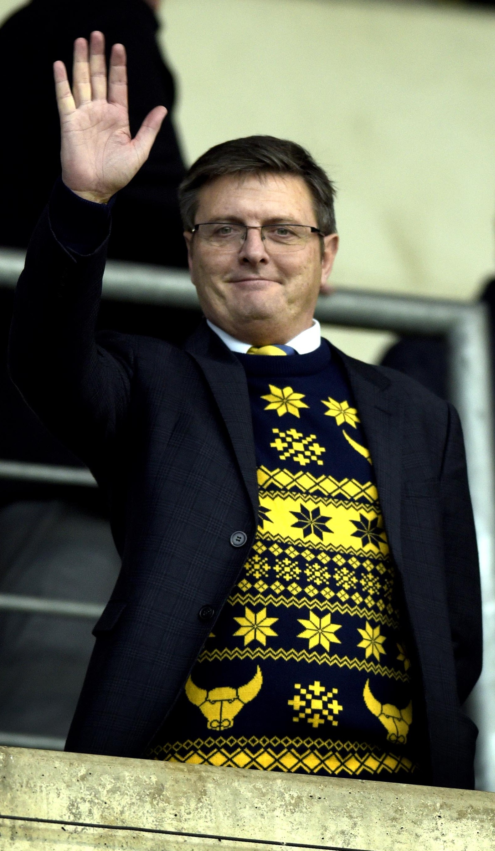 TRIED AND TRUSTED: Chairman Darryl Eales, pictured before the 7-0 defeat at home to Wigan last month, says Oxford United must get back to signing young players with potential Picture: David Fleming