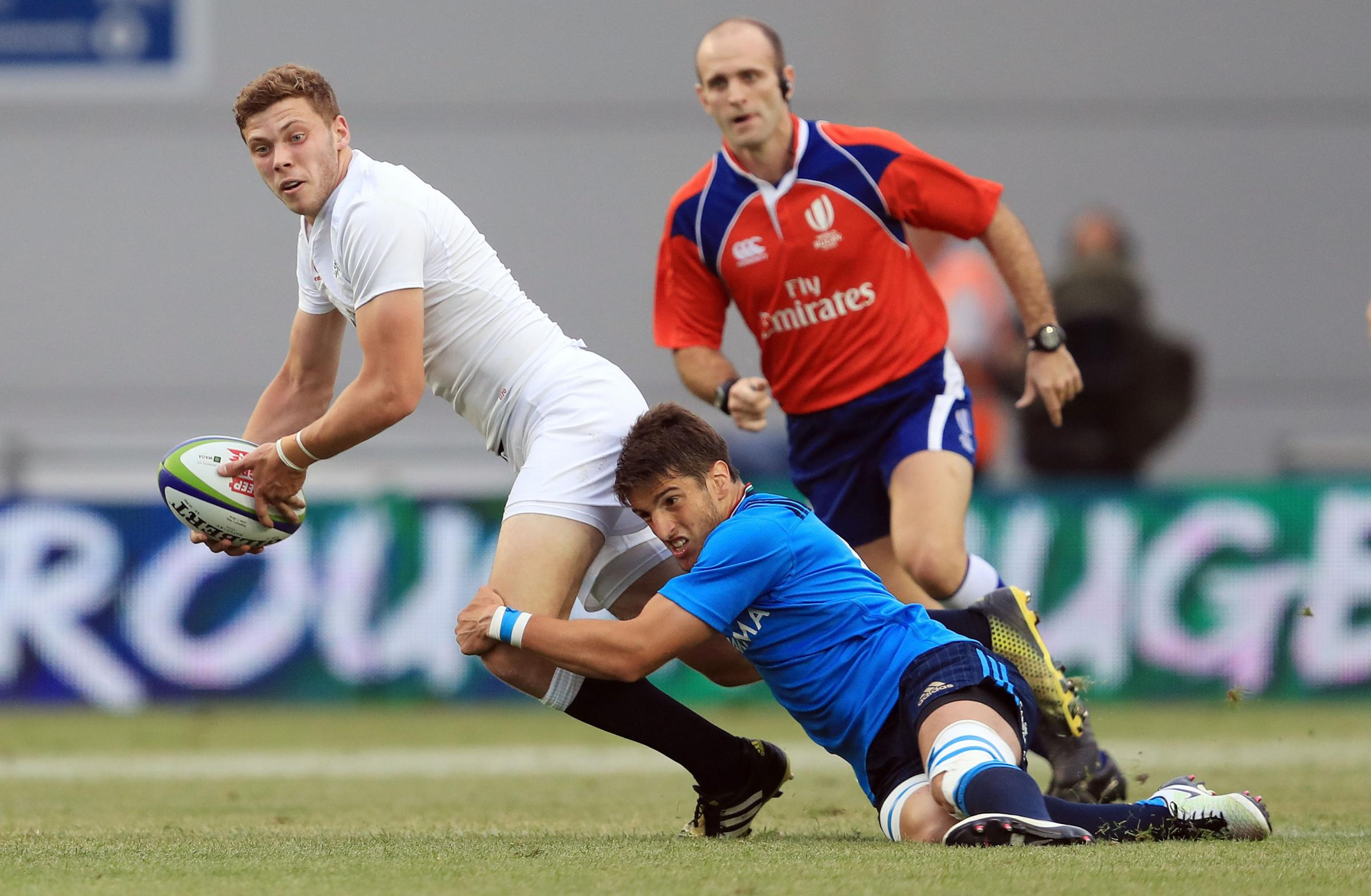 PEN TO PAPER: Theo Brophy Clews, pictured playing for England during the Under 20s World Cup in 2016, has signed a new deal with London Irish
