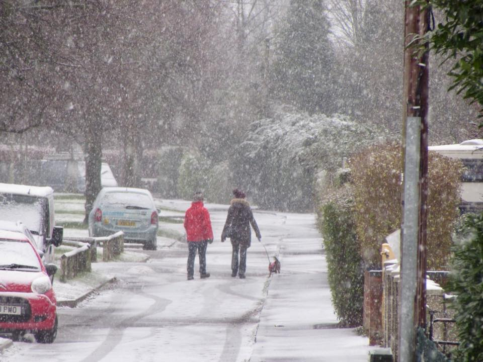 Camera Club member Becca Collacott's image of a snow covered Abingdon earlier this month