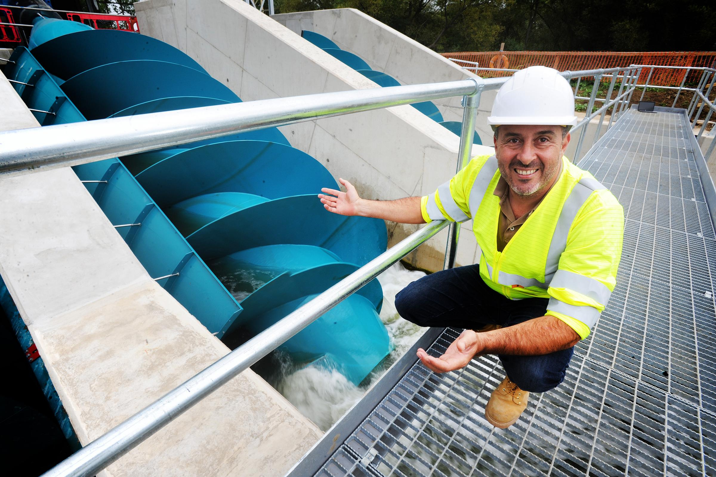 Sandford Hydro operations director Adriano Figueiredo at the plant in August 2017. Picture: Jon Lewis
