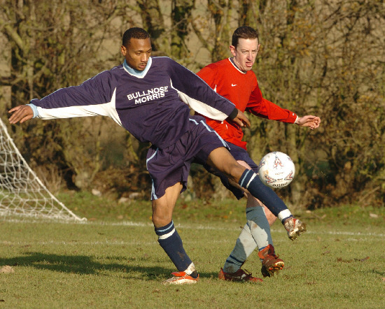 Wayne St Clair playing for Bullnose Morris in 2005. picture: Steve Wheeler