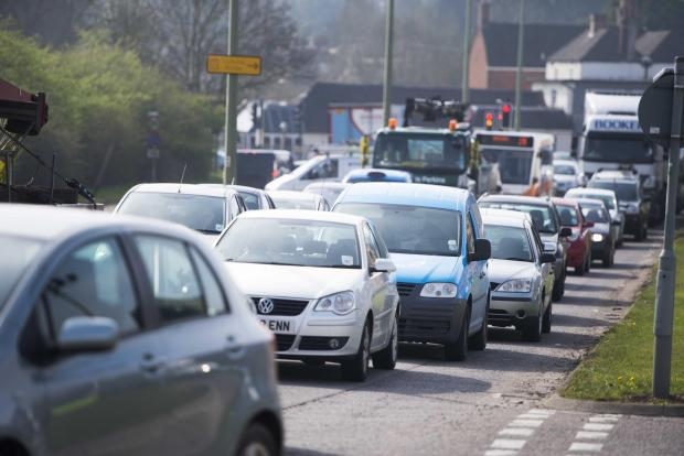 Herald Series: The A420 westbound. Traffic queues from Botley road towards Botley interchange. Pic Richard Cave