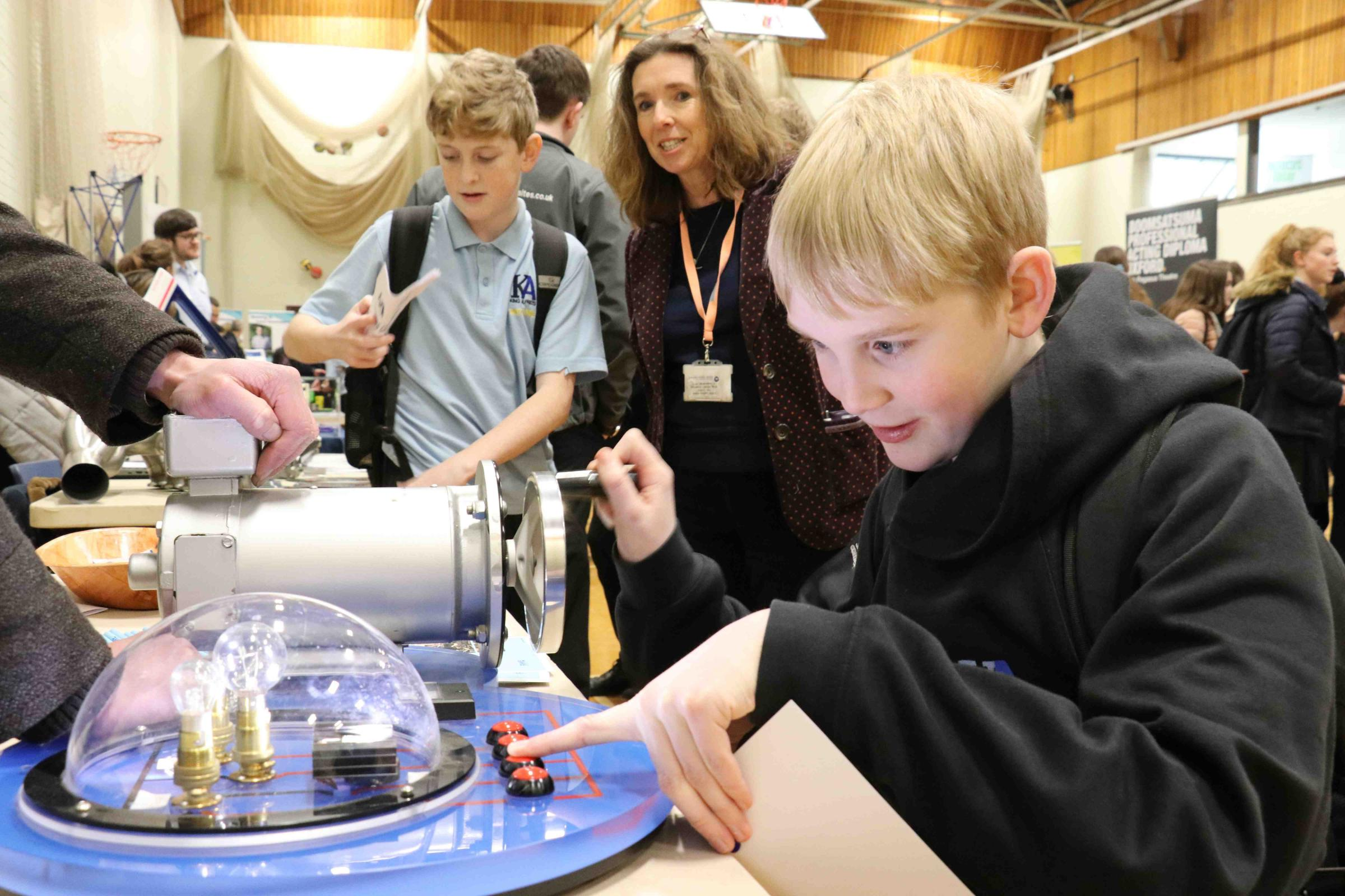 Students explore some scientific job options at King Alfred's Academy's careers convention at Wantage Leisure Centre on Tuesday, February 6, 2018. Picture: Vale Academy Trust