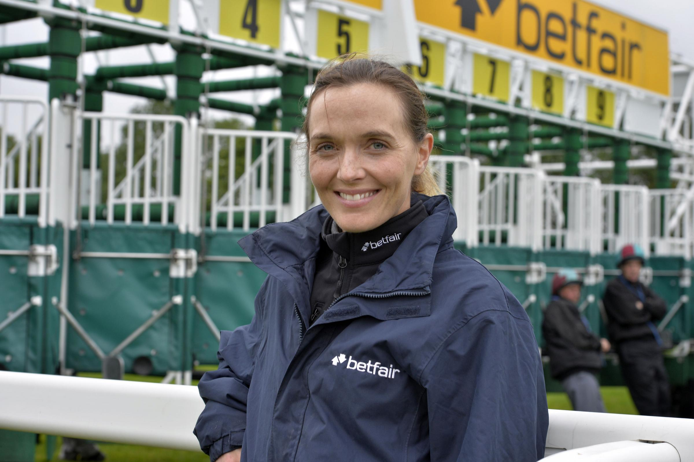 Victoria Pendleton before her first race during the Bank Holiday Fun Day at Ripon Racecourse, Ripon. Picture date: Monday August 31, 2015. (Pic: Owen Humphreys/PA Wire)