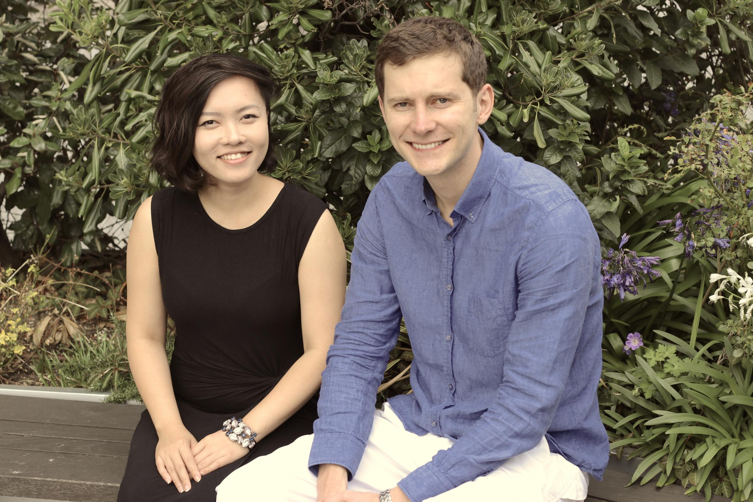 Founders of Pass the Keys Zoe Vu and Alex Lyakhotskiy. Pic Pass the Keys