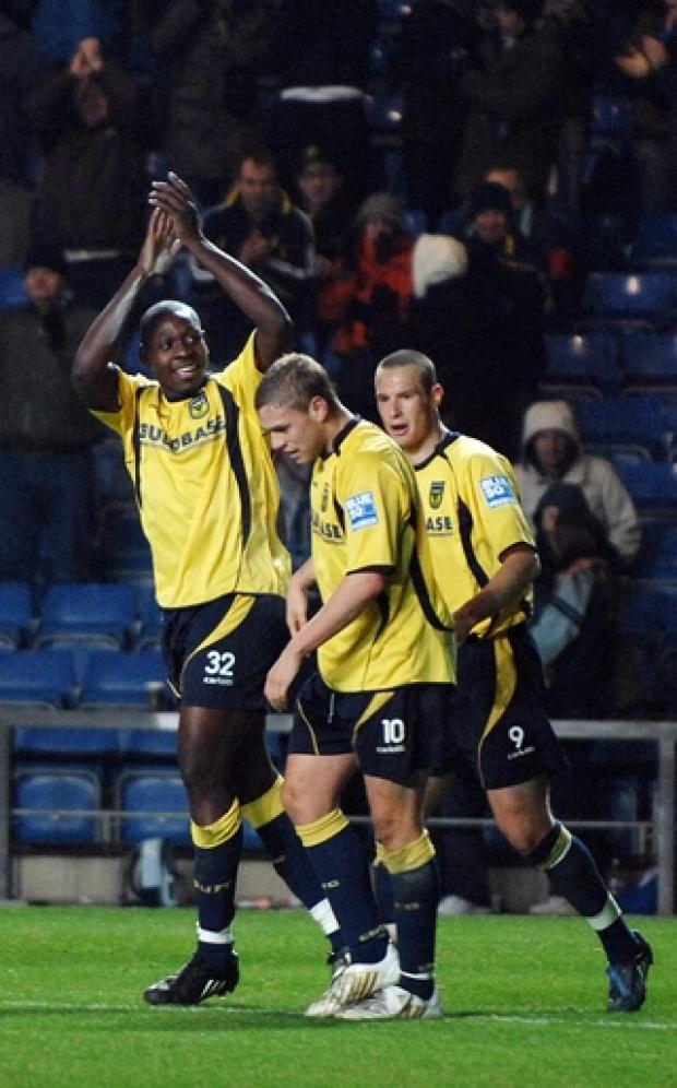 Herald Series: Ricky Sappleton celebrates scoring on his United debut