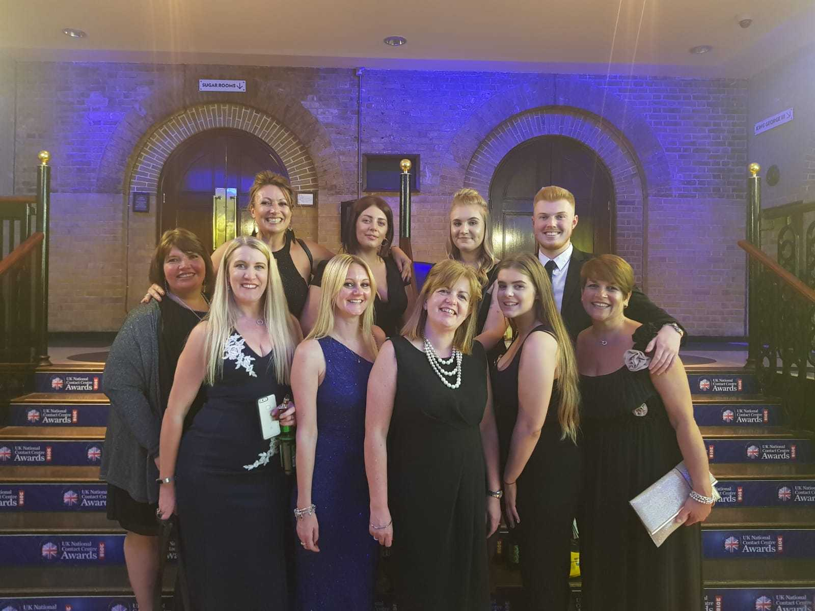 Soha Housing staff attend the awards ceremony in London. Pic Soha Housing