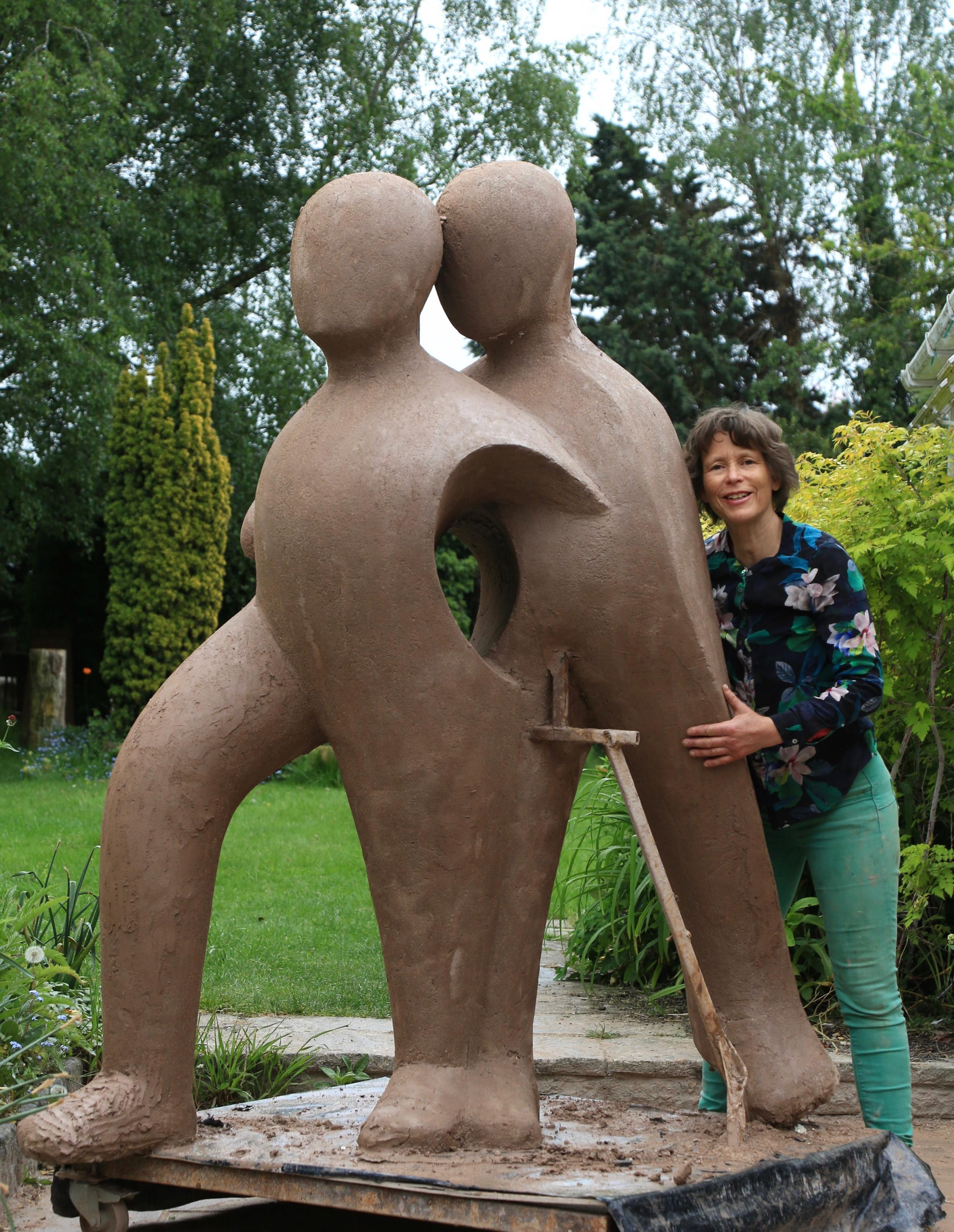 Beatrice Hoffman with her sculpture Picture: Julian Parfitt