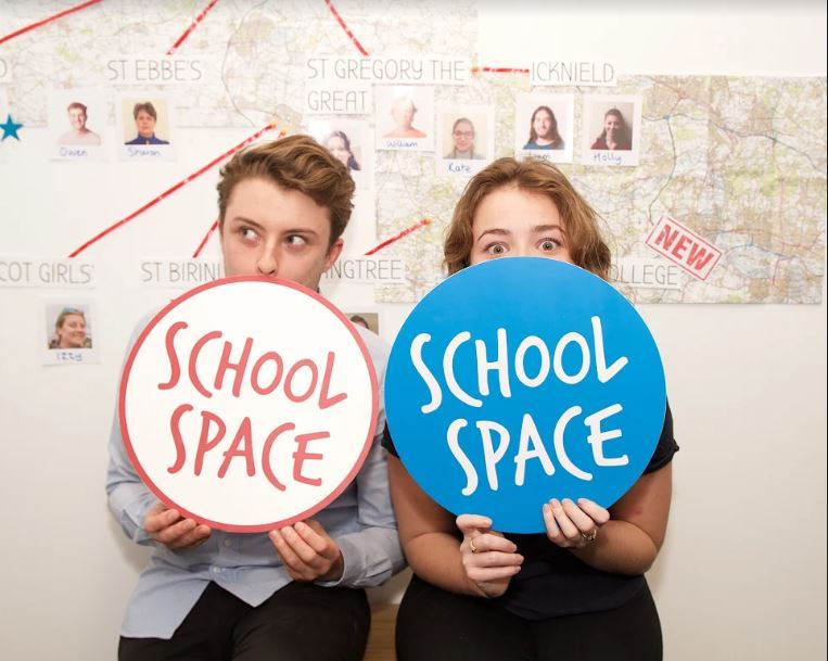 James Lloyd and Jemma Phibbs of School Space. Spic