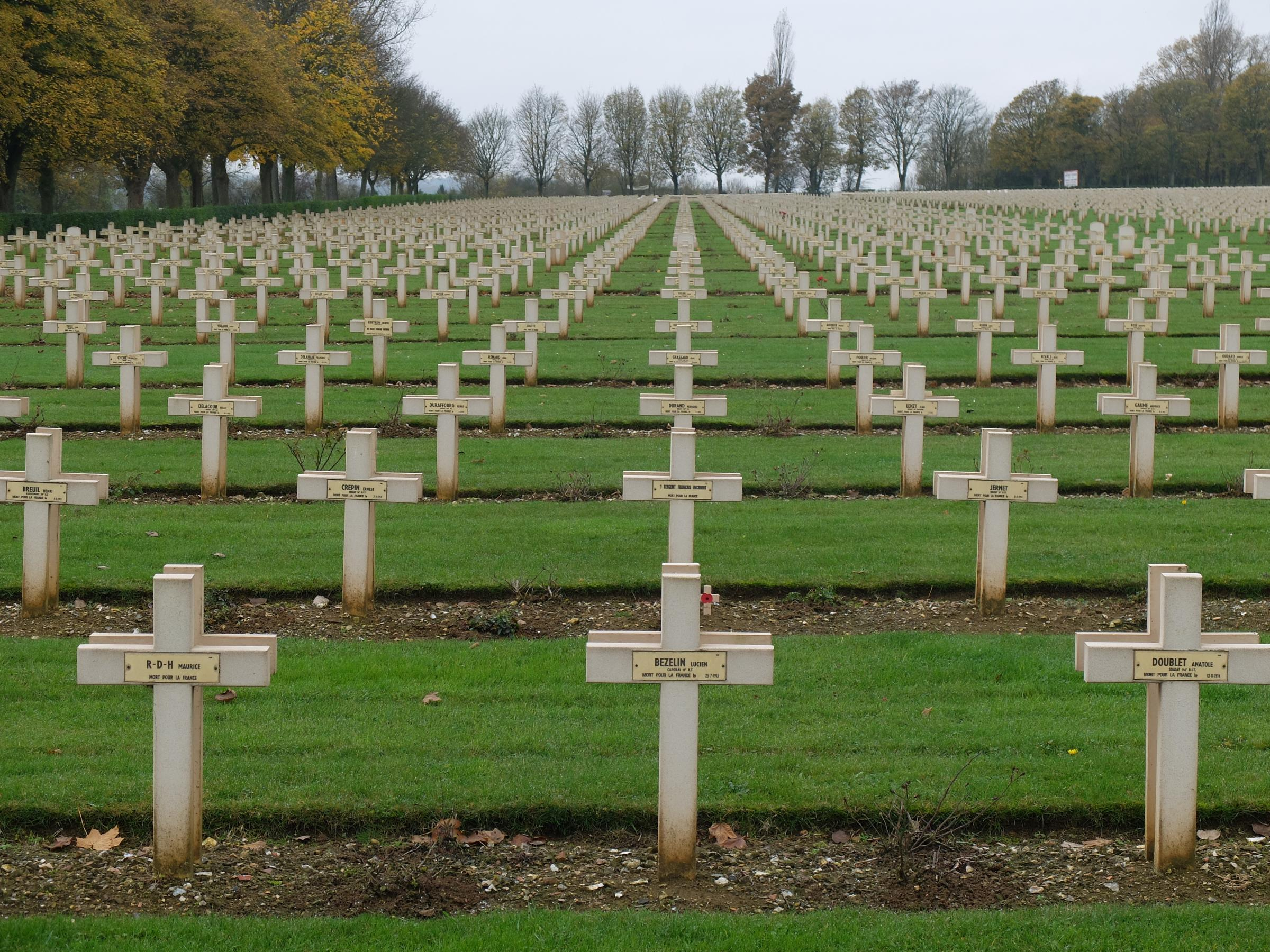 First World War sites in France - by Tim Hughes - French National War Cemetery at Notre-Dame-de-Lorette.