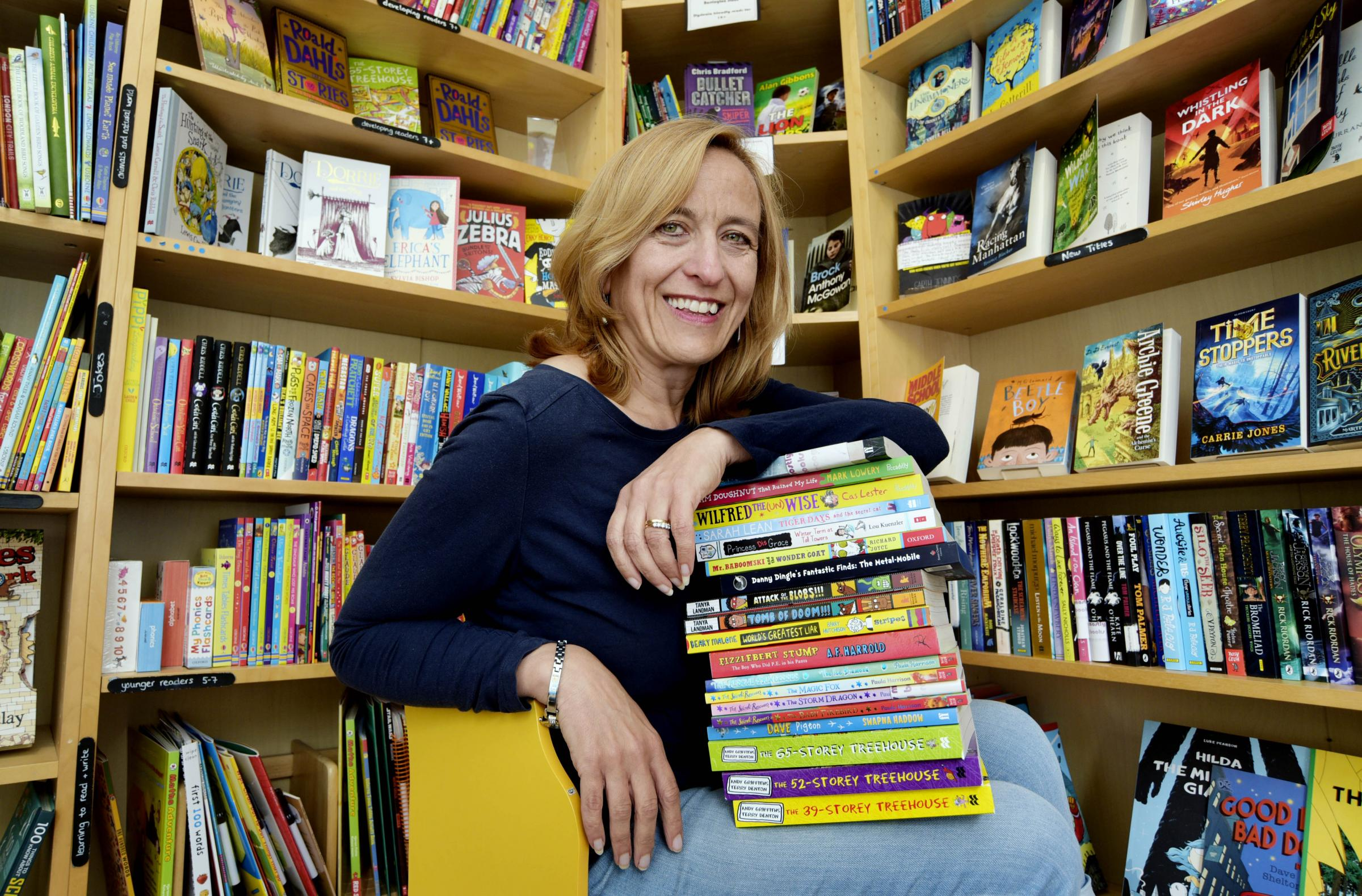 Photographer: David Fleming.Description: Mostly Book Owner Wins Comp.Length: Lead.Request: Campbell.Date: 20/6/16.Location: Abingdon.Caption:.Owner of Mostly Books, Nicki Thornton, has won the Times Chicken House  childrens writing competition, where her