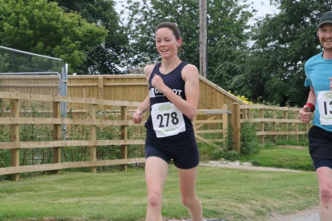 Didcot's Sian Loveless at the Downlands Dash where she finished as the first lady Picture: Barry Cornelius